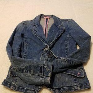 Vintage American Eagle Demin Single button Jacket